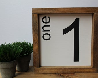 Family Number Sign. Handpainted Sign. Wall Art. Wooden Sign. Wall Gallery.