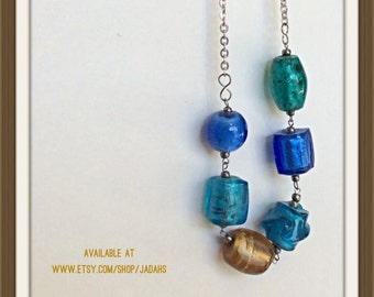 One Warm Bead Glass Necklace