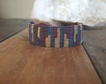 Earthy Micromacrame Adjustable Bracelet