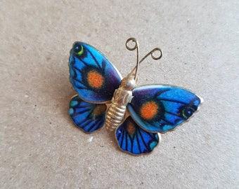 Vintage little enamel butterfly brooch