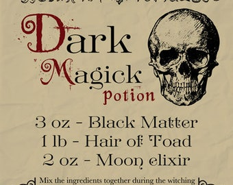 Witch Spell Book Page Book of Shadows Grimoire Digital Download