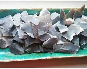 Georgetown, Flint, Blue, Vase Fillers, Vessel, 1 Pound, Colorful, Art, Crafts, Stones, Rocks, Decoration, Lapidary