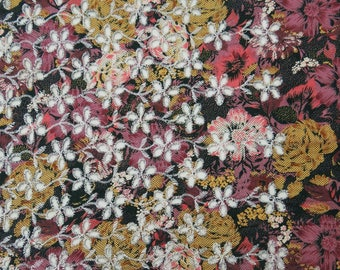 """Ethnic Fabric, Floral Embroidery, Apparel Fabric, Multicolor Fabric, Sewing Decor, 40"""" Inch Cotton Fabric By The Yard ZBC7682A"""