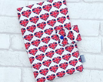 Nappy Wallet Diaper Bag // Nappy/Diaper wallet with heart union jack from newborn