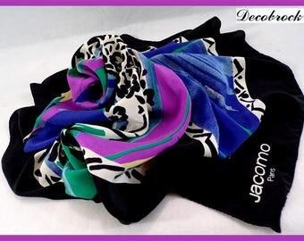 Scarf vintage silk Jacomo Paris made in France France fashion paris vintagefr gift for her vintage mother's day