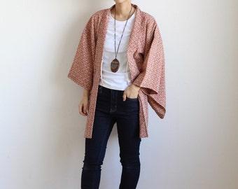 floral japanese kimono jacket, Haori, kawaii clothing, flower kimono, haori jacket, cardigan kimono, kimono robe, Japanese clothing  /878