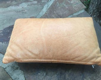 Leather Embossed Pillow