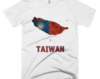 The Taiwan Flag T-Shirt (mens fitted)