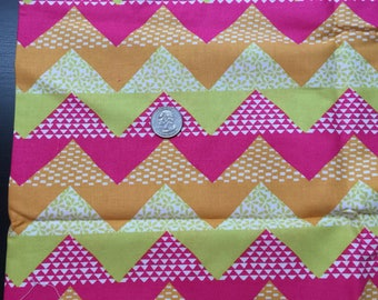 moda quilt blocks flying geese hot pink 100% cotton fabric