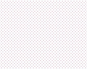Hot Pink Swiss Dots on White by Riley Blake Designs - Polka Dot - Quilting Cotton Fabric - by the yard fat quarter half