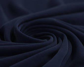 Navy Blue - Modal Jersey Knit Fabric