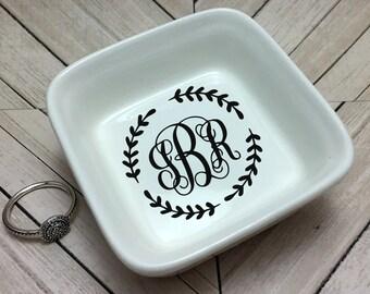 Monogram Ring Dish-Square