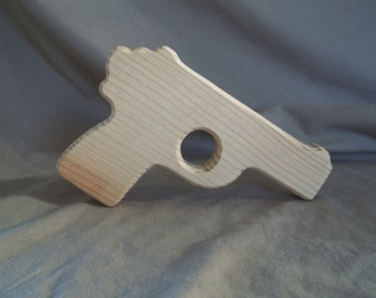 Wooden Toy Pistol Handmade Toy Gun