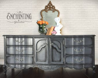SOLD - Dresser, French Provincial Dresser, Vintage, Buffet, Painted Furniture, Hand Painted, Cottage Chic, Farmhouse Furniture