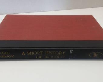 A Short History of Biology by Isaac Asimov, 1964 Previous Library Copy, Natural History Press
