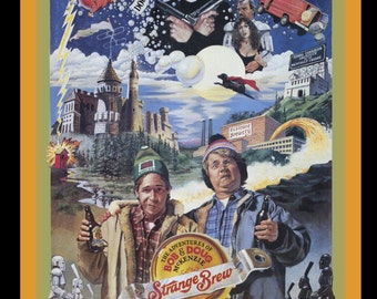 80's Comedy Classic Strange Brew Poster Art custom tee Any Size Any Color
