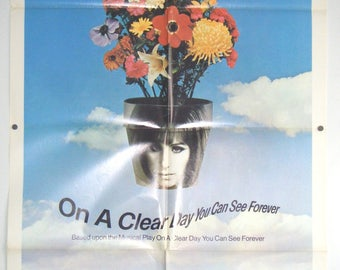 On A Clear Day You Can See Forever - 1970 - Barbra Streisand - Original US one sheet movie poster