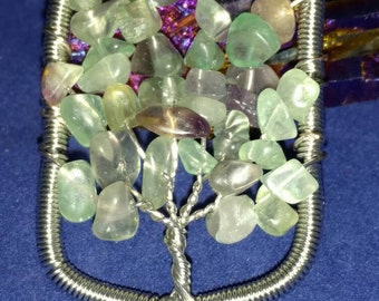 CLEARANCE *Fluorite Tree of Life Pendant Necklace