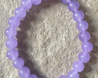 Purple Alexandrite 8mm semi precious gemstone bracelet