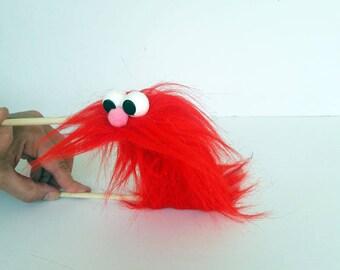 Red Caterpillar puppet - Hand Puppet