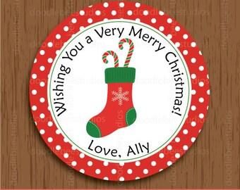 Christmas Stocking Labels, Printable Christmas Tags, Christmas Stocking Tags, Christmas Label, Christmas Stocking Tag, Christmas Gift Tags