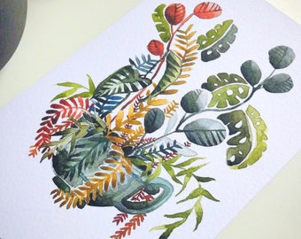 relax with printed plants