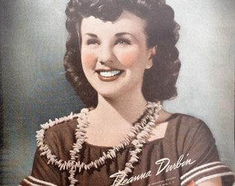Deanna Durbin Vintage Sepia 8x10 Photographic Print