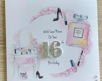 Female 16th/18th/21st Birthday Card Niece/Daughter/Sister/Friend