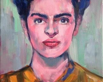 Modern Frida Kahlo Portrait, Contemporary Artwork, Decorative Art,  Original Painting,  FRIDA KAHLO PORTRAIT, Contemporary Portraiture