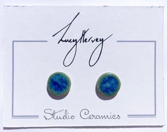 Stoneware stud earrings