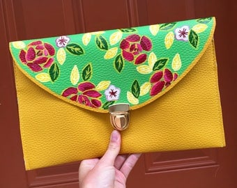 Floral Clutch: Painted Flower Clutch