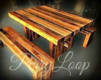 Post Style Farm Table