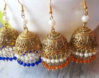 Jhumka Earrings, Bollywood Earrings, Ethnic Earrings, Indian Earrings, ethnic jewelry india, earrings for women, ethnic earring india