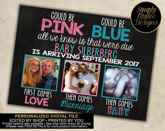 Could be Pink, Could be Blue Pregnancy Announcement