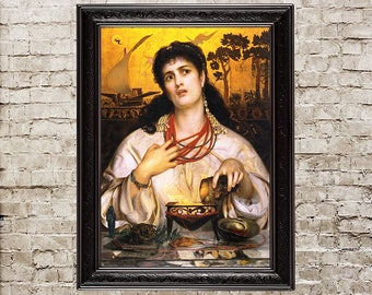Medea, witch, witchy, woman art, sorceress, enchantress, wise woman, woman poster, magic design, greek mythology, greek myth, sorcery, 230