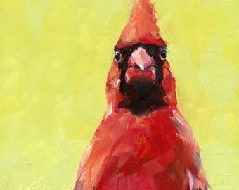 cardinal // wall art // cardinal art // giclee print // bird art // print // art