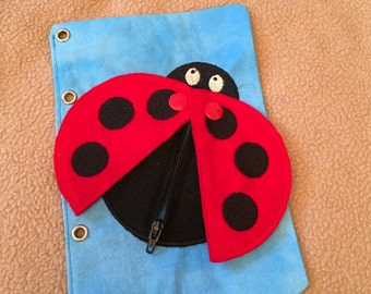 Ladybug Quiet Book Page - Busy Book - Quiet Activities for Kids