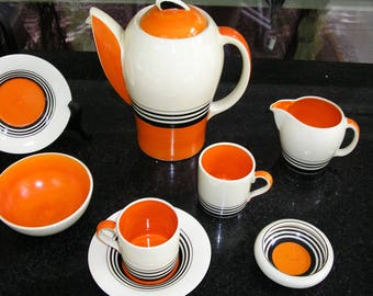 Susie Cooper Jazz Age Coffee Set