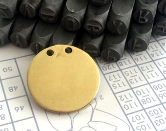 25 mm 15 Gauge (1.5mm) thickness 10 pcs stamping Round blank,tag,disc,findigs,sealing,pressing Raw Brass