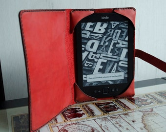 Kindle paperwhite cover leather, Kindle leather case, Kindle Paperwhite case, womens gift, gift for him, red