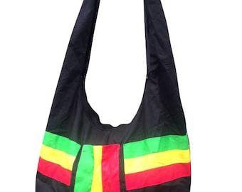Rasta and Reggae Cross Body Hobo Bag  RLW24