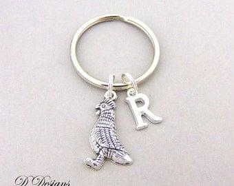 Chicken KeyChain, Chicken KeyRing, Hen Key Chain, Hen key ring, Personalised Key chain, Chicken Jewellery, Chicken Gifts