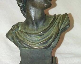 Small bronze Apollo Of Belvedere bust