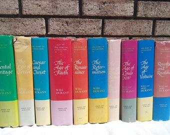 10 volume set of The Story Of Civilization
