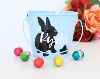 Easter basket Australia, Personalised Easter Bucket, Easter egg hunt, Easter gift, custom tin, Egg hunt bucket, Easter bunny, Easter tin