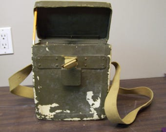 WW2 1944 Military Case With Shoulder Strap