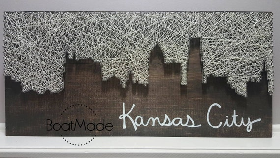 Kansas City Skyline String Art