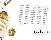 S01 Swedish Vecka Stickers, perfect for any Planner