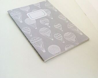 Hot Air Balloon    A5 Hand-stitched Lined Notebook