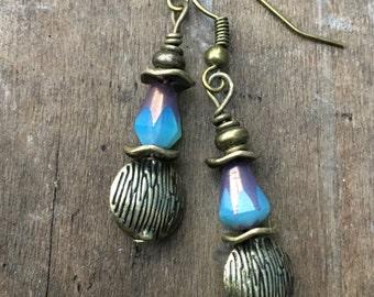 Boho Earrings, Copper Earrings, Hippie Earrings, Dangle Earrings, Unique Earrings